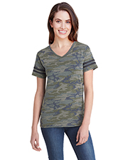 LAT 3537 Ladies 4.5 oz Football T-Shirt at GotApparel