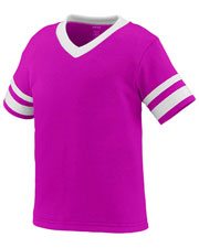 Augusta 362 Toddlers Sleeve Stripe Short V-Neck Jersey at GotApparel