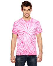 Dyenomite 365CY Men Team Tonal Cyclone Tie-Dyed T-Shirt at GotApparel