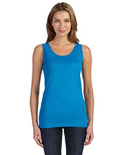 LAT 3690 Adult Fine Jersey Longer Length Tank at GotApparel
