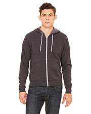 Bella + Canvas 3739 Unisex Poly-Cotton Fleece Full-Zip Hoodie at GotApparel