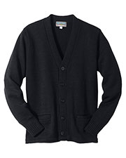 Edwards 383 Unisex Heavy Weight Button V-Neck Cardigan with Pockets at GotApparel