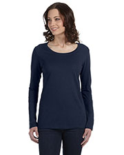 Anvil 399 Women Featherweight Long-Sleeve Scoop T-Shirt at GotApparel