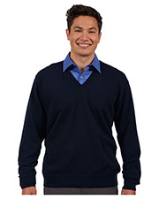 Edwards 4090 Unisex Fine Gauge V-Neck Sweater at GotApparel
