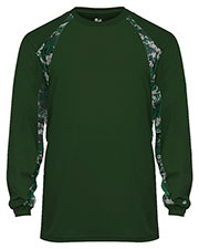 Badger 4155  Digital Hook Long Sleeve Performance Tee at GotApparel
