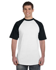 Augusta Sportswear 423 Men's 50/50 Short-Sleeve Raglan T-Shirt at GotApparel