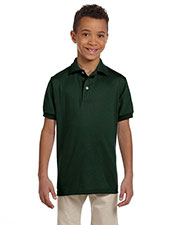 Jerzees 437Y Boys 50/50 Jersey Polo With Spotshield at GotApparel