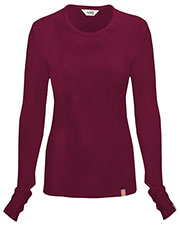 Code Happy 46608A Women Round Neck Long-Sleeve Knit T-Shirt at GotApparel