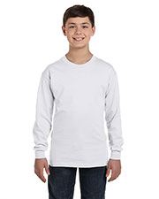 Hanes 5546 Boys 6.1 oz. Tagless ComfortSoft LongSleeve T-Shirt at GotApparel