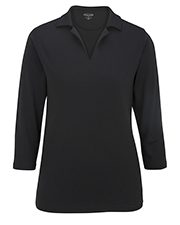 Edwards 5581 Women Performance Flat-Knit 3/4-Sleeve Polo at GotApparel