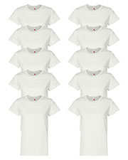 Hanes 5680 Women 5.2 Oz. Comfort Soft Cotton T-Shirt 10-Pack at GotApparel