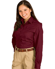 Edwards 5750 Women Cotton Plus Twill Long Sleeve Shirt at GotApparel