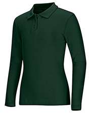 Classroom Uniforms 58542  Long Sleeve Fitted Interlock Polo at GotApparel