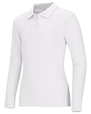 Classroom Uniforms 58544  Junior Long Sleeve Fitted Interlock Polo at GotApparel