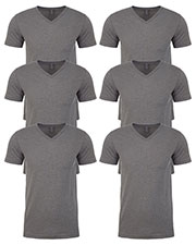 Next Level 6240 Men Premium Cvc V-Neck Tee 6-Pack at GotApparel