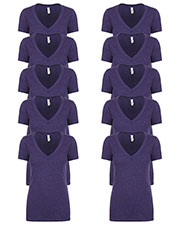 Next Level 6640 Women Cvc Deep V 10-Pack at GotApparel