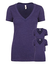 Next Level 6640 Women Cvc Deep V 3-Pack at GotApparel
