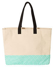 Brookson Bay Bb100  Patterned Bottom Beach Tote at GotApparel