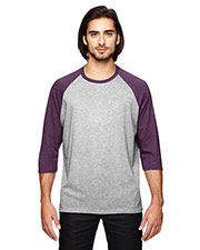 Anvil 6755 Adult Triblend 3/4Sleeve Raglan T-Shirt at GotApparel
