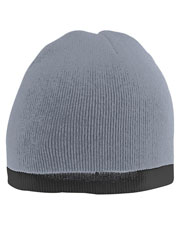 Augusta 6820 Unisex Two-Tone Knit Beanie OneSize at GotApparel