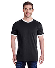 LAT 6932 Men 4.5 oz Soccer Ringer Fine Jersey T-Shirt at GotApparel