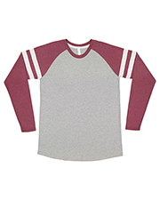 LAT 6934 Men Gameday Mash-Up Long-Sleeve Fine Jersey T-Shirt at GotApparel