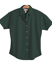 Tri-Mountain 711 Women Monarch Easy Care Short-Sleeve Twill Shirt at GotApparel