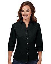 Tri-Mountain 763 Women Affinity Stain-Resistant Open Neck Shirt at GotApparel