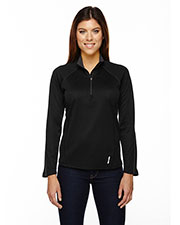 North End 78187 Women Radar HalfZip Performance Long Sleeve Top at GotApparel