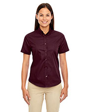 Core 365 78194 Women Optimum short sleeve Twill Shirt at GotApparel