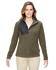 North End 78215 Women Excursion Trail Fabric-Block Fleece Jacket at GotApparel
