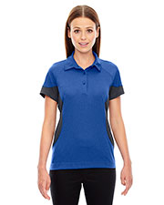 North End 78677 Women's Refresh UTK cool.logik™ Coffee Performance Melange Jersey Polo at GotApparel