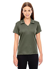 North End 78803 Women's Exhilarate Coffee Charcoal Performance Polo with Back Pocket at GotApparel