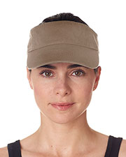 UltraClub 8103 Unisex Classic Cut Chino Cotton Twill Visor at GotApparel