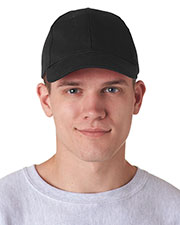 UltraClub 8110 Unisex Classic Cut Brushed Cotton Twill Constructed Cap at GotApparel