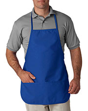 UltraClub 8201 Men Large 2 Pocket Bib Apron at GotApparel