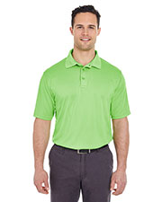 UltraClub 8220 Men Cool & Dry Jacquard Stripe Polo at GotApparel
