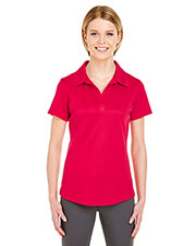 UltraClub 8220L Women Cool & Dry Jacquard Stripe Polo at GotApparel