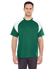 UltraClub 8399 Men Cool & Dry Sport Color Block Tee at GotApparel