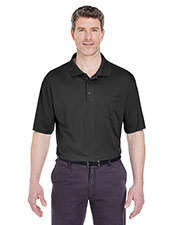UltraClub 8405P Men Cool & Dry Sport Polo with Pocket at GotApparel
