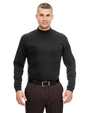 Ultraclub 8510 Men Egyptian Interlock Long-Sleeve Mock-Turtleneck at GotApparel