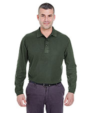 Ultraclub 8542 Men Long-Sleeve Whisper Pique Polo at GotApparel