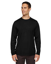 Core 365 88199 Men Agility Performance Long Sleeve Pique Crew Neck at GotApparel
