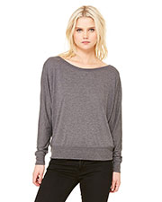 Bella + Canvas 8850 Women Flowy Long-Sleeve Off Shoulder T-Shirt at GotApparel