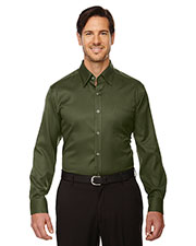 North End 88635 Men Legacy Wrinkle Free TwoPly 80's Cotton Jacquard Taped Shirt at GotApparel