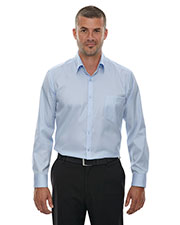 North End 88646 Men Wrinkle Free TwoPly 80's Cotton Taped Stripe Jacquard Shirt at GotApparel