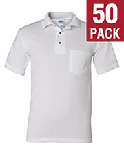 Gildan G890 Men Dryblend 6 Oz. 50/50 Jersey Polo With Pocket 50-Pack at GotApparel