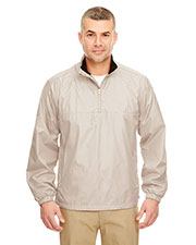 UltraClub 8936 Men MicroPoly 1/4-Zip wind shirt at GotApparel