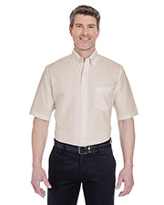UltraClub 8972 Men Classic WrinkleFree short sleeve Oxford at GotApparel