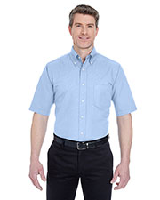 UltraClub 8972T Men Tall Classic WrinkleFree short sleeve Oxford at GotApparel